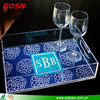 Wholesale acrylic serving tray with OEM/ODM acceptable