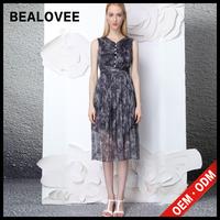 2015 casual silk print dress bodycon ladies dresses new arrival fashion women cheap plus size sexy summer dresses