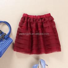 Popular Red Color Fashion Short Skirt