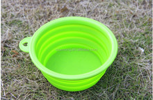 New unbreakable collapsible silicone bowl pet,silicone dog feeder tool