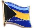 bandera de bahamas perno de la solapa o regalos personalizados diseño de artes mental