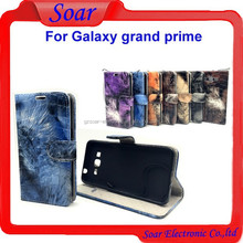 Luxury printing leather case for Samsung galaxy grand prime,wallet flip cover case for Samsung galaxy grand prime