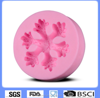 Snowflake decorating mold silicone fondant mold for cake