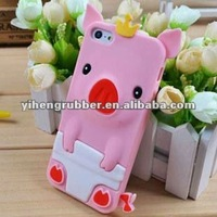 very lovely 3d silicone animal case for iphone 4