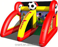 inflatable sports bouncer with football hoop