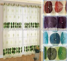 2015 manufactory wholesale embroidery fabric lace sheer curtain fabric latest curtain designs 2015