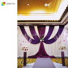 backdrop flower stage/wedding backstage decoration/IDA wedding backdrop drape curtain