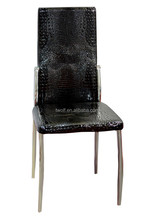 Hot Selling! Modern Black Crocodile Leather High Back Dining Room Chair DC804