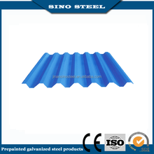 Color coated prepainted corrugated steel sheet for building industry