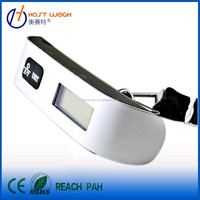 Travel weighing Portable digital Luggage Scale with Strap/Hook, Temperature/Time Display and Alarm Clock Function