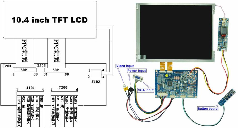 wholesale 10 4 inch color tft lcd tv display module alibaba