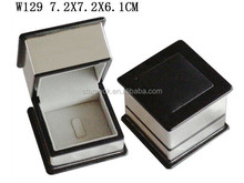 Custom Elegant PU Wooden Ring Gift packaging Box with Velvet Ling W129