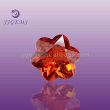 red plum blossom cubic zirconia CZ fancy stones