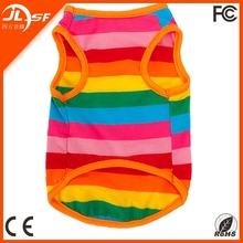 Promotional Chromatic stripe pet clothes,small dog clothes for sale