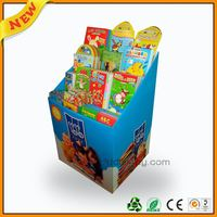 pop confetti cannons display ,pop compartment cardboard display ,pop chewing gun stand