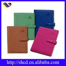 2015 Handmade leather notebook diary with gifts /office use notebook