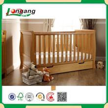 natural teak wood baby cot