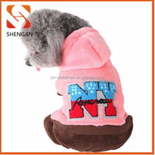 Adorable Hot pink,bule rose red green Cotton Fleece Pet Clothes for dogs