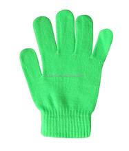 Neon Grren Acrylic Magic Stretch Gloves