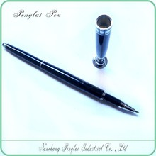 Black Promotional metal desk stand pens with mounting screw