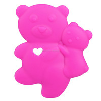 Bulk small rubber silicone animal teether plastic animal toys