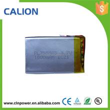 li-ion rechargeable 3.7v li-polymer 355585 1600mah battery