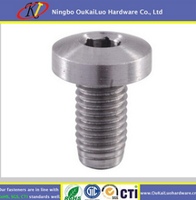 Cylinder head screws SS316 SS304 2015 new style cheap custom pan head from Yuyao OuKaiLuo