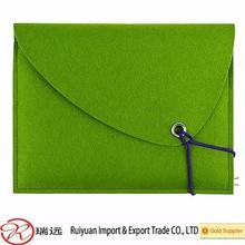13'' Green felt laptop sleeve ,laptop bag for teenage new for 2015