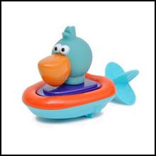 custom floating duck toy for baby chian supplier,custom bathing vinyl animal toy,speedboat duck floating bath toy