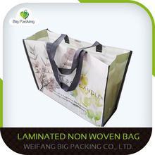 Cute shop cloth cheap custom non woven bags