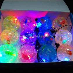 hot selling promotional water led bouncy bouncing ball filled with floaters