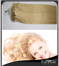 Top quality expensive price human hair micro ring loop hair extensions