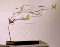 Small metal butterfly table art crafts for decor