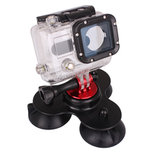 Sports camera accessories Universal Professional Triple Cup Suction Mount for Gopro hero 1 2 3 3+ 4