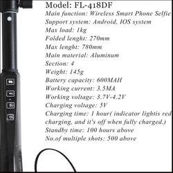 good material folding video camera legoo selfie stick
