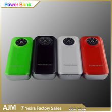 Fish Mouth Design USB Output Power bank 5200mah external battery pack rechargeable Battery 5V 1A output Charger