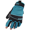Durable and firm grip synthetic industrial impact gloves