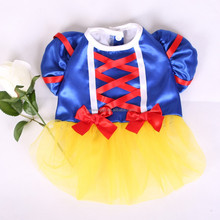 wholesale pet clothes pet dress snow queen snow white costume dress