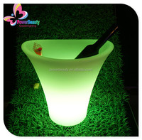 indoor outdoor pe material recahrgeable coolers led busket lighting wine holder for party