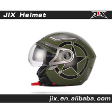 2015 New open face motorcycle helmet with duble visor helmet safe helmets Brand JX-OP02