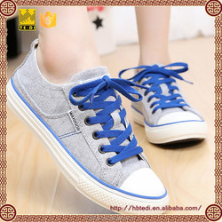 simple design casual style girl's canvas shoes in plaid figure lace up shoes