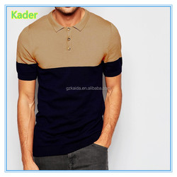 Wholesale two color polo shirt fabric With Custom Label for men from changzhou
