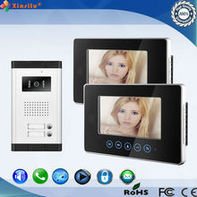 Hot sale multi apartment video door phone with touch screen 7inch tft lcd video door phone intercom with night vision mini camer