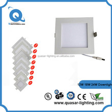 3w to 24w Round /Square led downlight IP44 dimmable with 3 years warranty