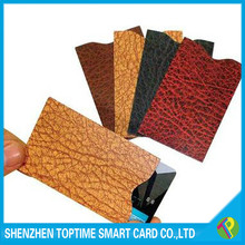 2015 HOT aluminum foil RFID blocking sleeve in sets 4 credit card sleeve protector