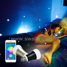 Hot Products 2015 Colorful Light APP Control Bluetooth Low Energy Dimmable Bulb Smart Light Bulb from Factory