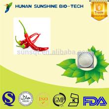 Farmacéutica capsaicina, chili pimienta extracto, Capsicum extracto, Capsaicinoids