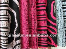 100% poliester Tela de tapicería de sofá tapizado de tela flocado