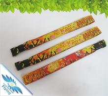 fabric bracelet woven fabric wristband for christmas ornaments wedding souvenirs