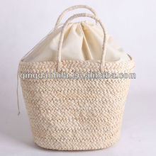 Qingdao HIFA New Candy Women tote handbag corn husk straw bags fashion new style shopping bags
